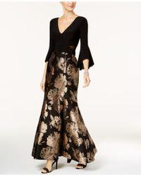 Xscape - Petite Flare-sleeve Mermaid Gown - Lyst