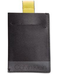 Calvin Klein - Pull-tab Leather Cardholder - Lyst