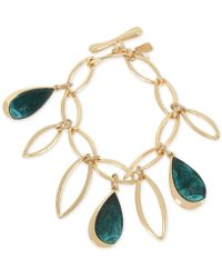 Robert Lee Morris - Gold-tone & Patina Charm Link Bracelet - Lyst