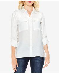 Vince Camuto Utility Shirt - White