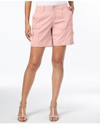 Style & Co. Petite Comfort-waist Cargo Shorts, Created For Macy's - Pink