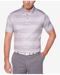 PGA TOUR - Pro Series Double-knit Stripe Performance Polo - Lyst