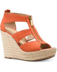 Michael Kors | Michael Damita Platform Wedge Sandals | Lyst