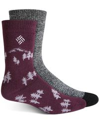 Columbia Thermal Journey Crew Sock, 2 Pack - Purple