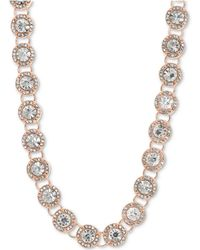 "Anne Klein - Crystal & Pavé Collar Necklace, 16"" + 3"" Extender - Lyst"