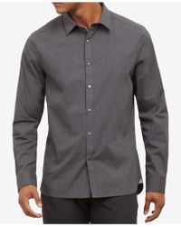 Kenneth Cole - Heather Poplin Shirt With Snap Buttons - Lyst