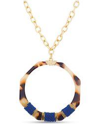 Catherine Malandrino Simulated Tortoise Shell Chain Necklace - Metallic