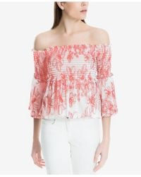Max Studio - Smocked Cotton Off-the-shoulder Top, Created For Macy's - Lyst