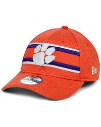 KTZ Clemson Tigers Team Color Stripe 39thirty Cap - Orange