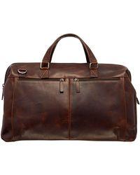Mancini Carry-on Duffle Bag - Brown