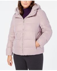 4d1dee17559 Calvin Klein - Plus Size Hooded Puffer Coat - Lyst
