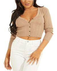 Guess Camille V-neck Cardigan - Multicolor