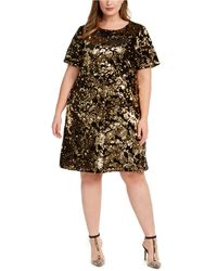 INC International Concepts - Inc Plus Size Two-tone Sequin Dress, Created For Macy's - Lyst