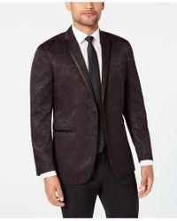 Kenneth Cole Reaction Slim-fit Tonal Floral Evening Jacket - Multicolor