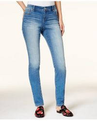 INC International Concepts - Petite Medium Wash Skinny Jeans, Created For Macy's - Lyst