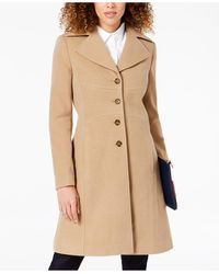 Tommy Hilfiger Single-breasted Walker Coat, Created For Macy's - Natural