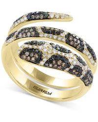 Effy Collection - Diamond Snake Coil Ring (9/10 Ct. T.w.) In 14k Gold - Lyst