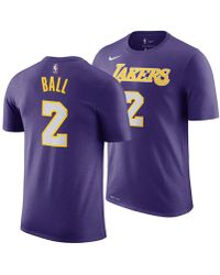 Nike - Lonzo Ball Los Angeles Lakers Statement Player T-shirt - Lyst