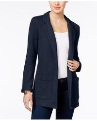 Style & Co. - Jacquard Open-front Blazer - Lyst