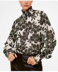 Mango - Floral Print Blouse - Lyst
