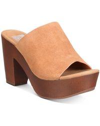 DV by Dolce Vita Henna Platform Heeled Sandals - Brown