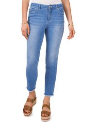 Vince Camuto Frayed-hem Jeans - Blue
