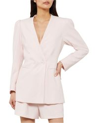 BCBGMAXAZRIA Double-breasted Button-front Blazer - Pink