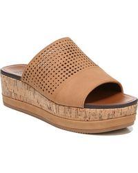 Naturalizer Nebraska Slide Wedge Sandals - Brown