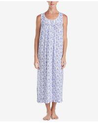 Eileen West - Ballet Lace-trim Ruffle-hem Knit Nightgown - Lyst