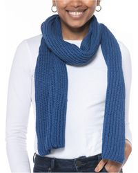 Style & Co. Solid Ribbed Muffler Scarf, Created For Macy's - Blue
