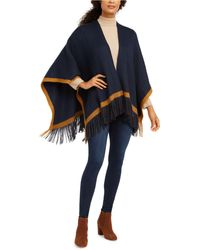 Vince Camuto Knit Topper With Pop Stripe - Blue
