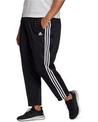 adidas Plus Size Side-snap Pants - Black