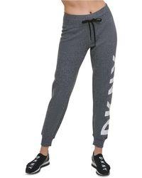 DKNY Sport Metallic-logo Sweatpants - Black