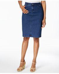 Charter Club Denim Pencil Skirt - Blue