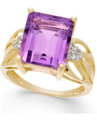 Macy's - Amethyst (6 Ct. T.w.) & Diamond Accent Ring In 14k Gold - Lyst