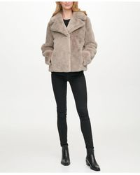 DKNY Faux-fur Coat, Created For Macy's - Multicolor