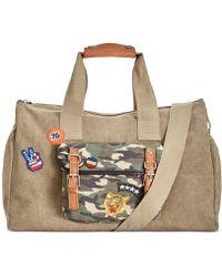 Steve Madden - Men's Canvas Camo Patchwork Duffel Bag - Lyst