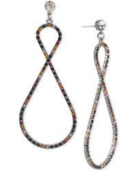 BCBGeneration - Bcbg Hematite-tone Crystal Confetti Twist Drop Earrings - Lyst