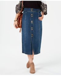 Style & Co. - Petite Denim A-line Skirt, Created For Macy's - Lyst