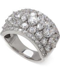 Arabella - Swarovski Zirconia Pave Ring In Sterling Silver - Lyst