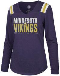 47 Brand Minnesota Vikings Flash Long Sleeve T-shirt - Purple