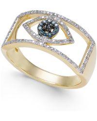 Macy's - Diamond Evil Eye Ring (1/6 Ct. T.w.) In 10k Gold - Lyst