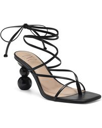 INC International Concepts Inc Lillias Lace-up Sandals, Created For Macy's - Black