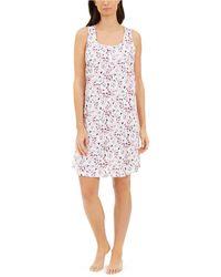 Charter Club Cotton Sleeveless Sleep Shirt Nightgown, Created For Macy's - White