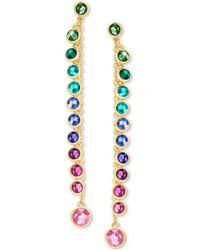 Swarovski - Gold-tone Multicolor Crystal Linear Drop Earrings - Lyst