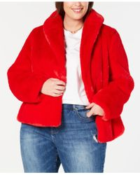 INC International Concepts - I.n.c. Plus Size Faux-fur Teddy Coat, Created For Macy's - Lyst