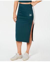 PUMA Classics Ribbed Skirt - Green