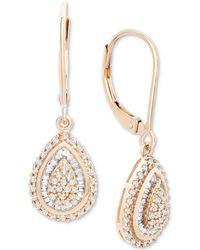 Wrapped in Love ? Diamond Teardrop Earrings In 14k White Gold (1/2 Ct. T.w.), Created For Macy's - Metallic