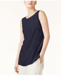 Eileen Fisher - System Silk High-low Tunic, Regular & Petite - Lyst