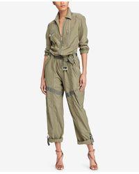 Polo Ralph Lauren Zip-front Jumpsuit - Green
